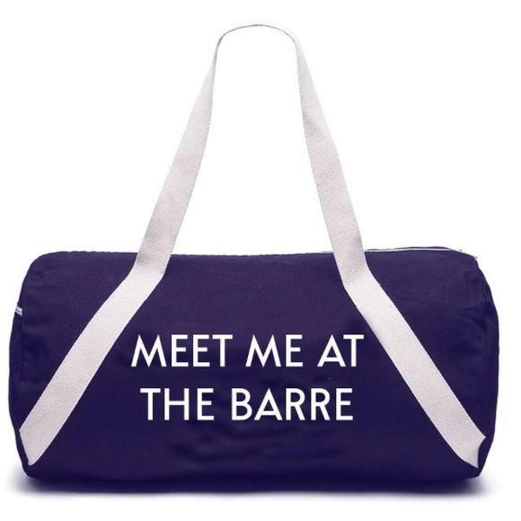 PRIVATEPARTY MEET ME AT THE BARRE Denim Gymbag